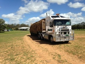 truck arriving to drought stricken farm